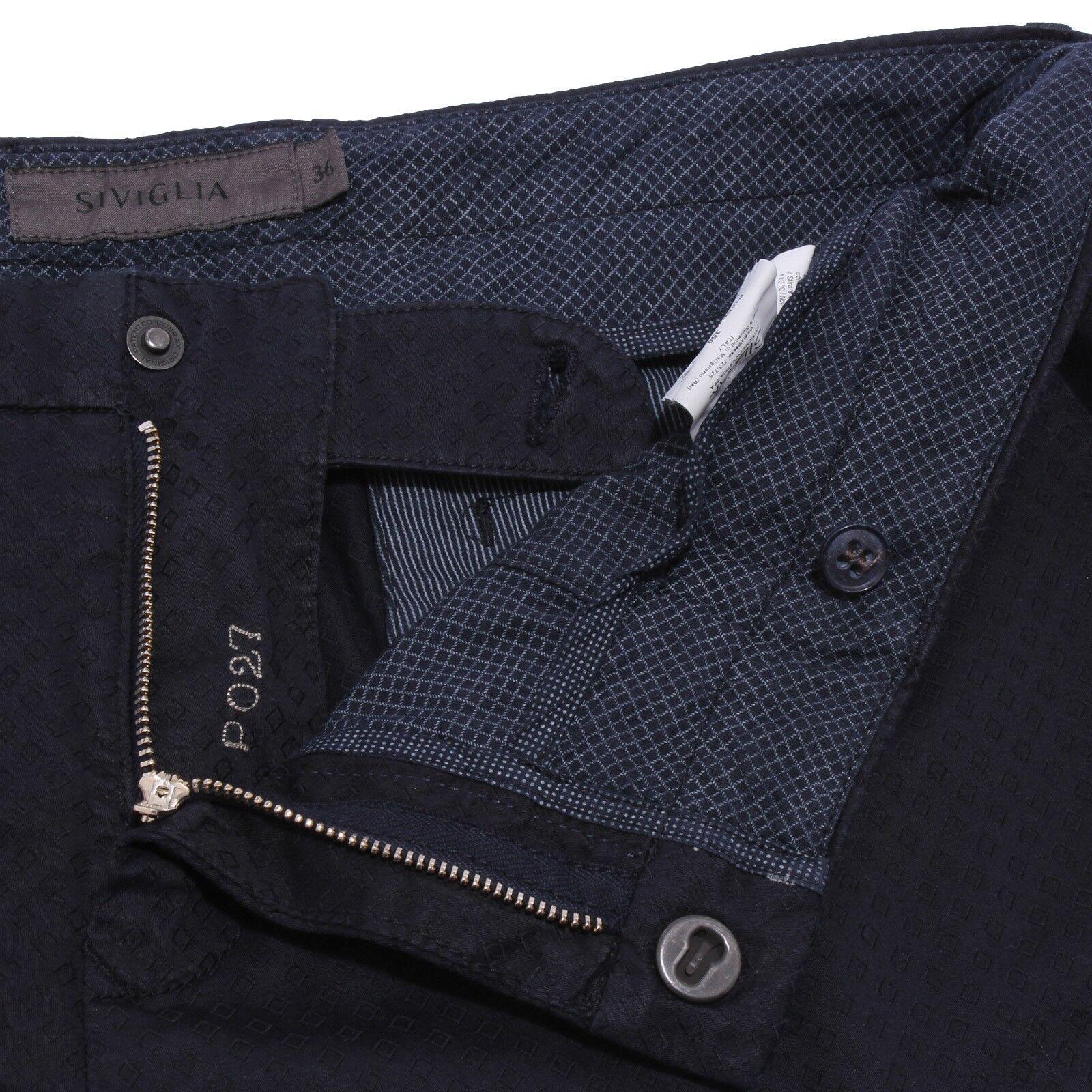 6358Y pantalone pantalone pantalone uomo blu SIVIGLIA SCRATCHED SPOTTED cotton trouser man d752ed