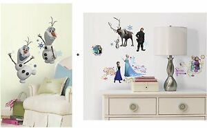 Image Is Loading DISNEY FROZEN Wall Decals 2 Box Set OLAF