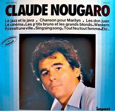++CLAUDE NOUGARO le jazz et la java/chanson pr Marilyn/le cinéma LP Impact VG++