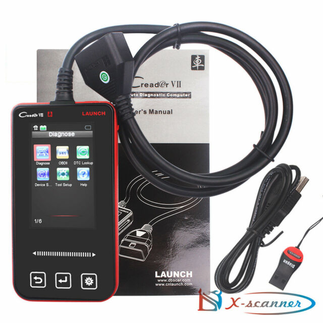 Launch Creader VII For Land Rover Full System OBD ABS SRS Auto Diagnostic Tool