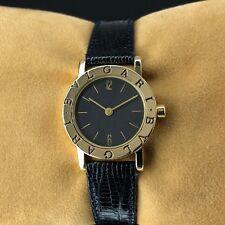 c15eb7e01e7 Bvlgari Quadrato 18k Yellow Gold Black Dial Ladies Quartz Watch SQ ...
