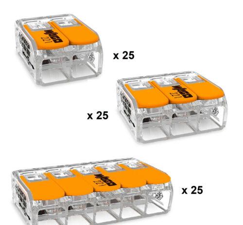 WAGO Klemmen 221 SET Compact I 221-612 221-613 221-615 I Dosenklemme Hebelklemme