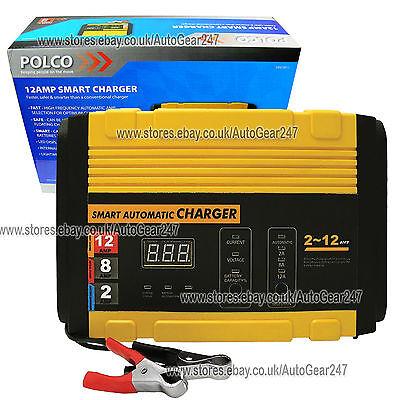 Car Van Bike Light Truck 12v 2, 8, 12 Amp Smart Automatic Battery Charger