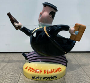 "8"" Beswick Ware 1517 A DOUBLE DIAMOND Works Wonders Liquor Bar Advertising Toby"