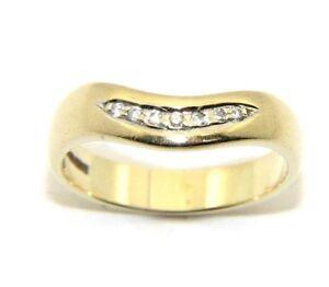 Ladies-womens-9ct-9carat-yellow-gold-diamond-wishbone-ring-uk-size-K