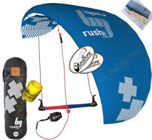 HQ4-HQ-Rush-V-Pro-300-3M-3-Line-Trainer-Kite-Kiteboarding-Power-Traction-Snow