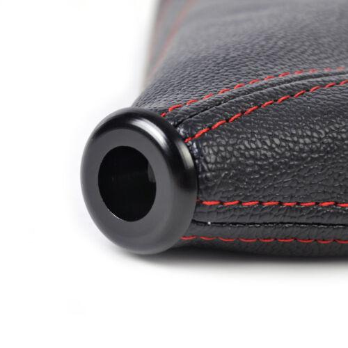 Universal Schwarz Leder Schaltkanuf Schaltsack Schaltmanschette Handbremssack