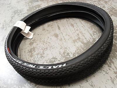 "Halo Twin Rail Tyres (pair) New! Mountain Bike Tyhat62 (black) 26"" Twinrail"