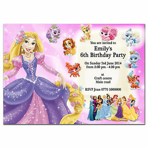 Image Is Loading I12 Pink Personalised Birthday Party Invitations Invites 1st
