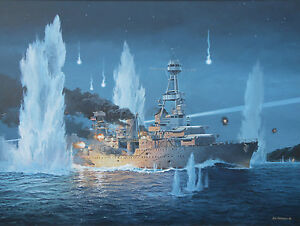 034-They-Sold-Their-Lives-Dearly-034-Tom-Freeman-WW-II-Artist-Proof-USS-Houston-1942