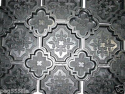 Baustoffe & Bauelemente 12 Giessformen Davon 2 Halbierte Randformen Für Dekorative Orient Platten Nr.200 Starker Widerstand Gegen Hitze Und Starkes Tragen