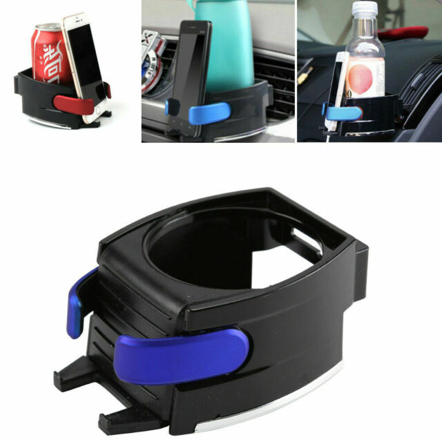 Plastic Clip On Cup Holder For Car Van Air-Vent Holds Water Bottle Can Drink.