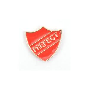 Prefect-Badge-Enamel-Lapel-Pin-Badge-Brooch-Retro-School-Red-BNWT-NEW-Gift