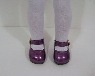 """DK LAVENDER Snazzy Doll Shoes For 14/"""" American Girl Wellie Wisher Wishers Debs"""