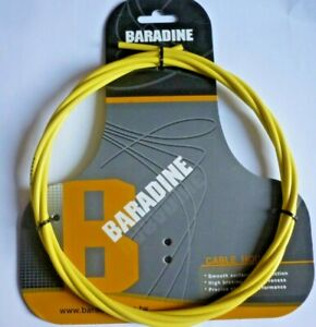 GAINE-DE-FREIN-BARADINE-CABLE-HOUSING-5mm-x-2500mm-KEVLAR-YELLOW-HIGH-QUALITY