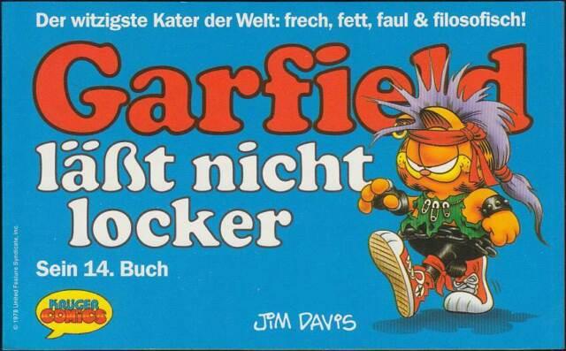Garfield 14. Buch: Garfield läßt nicht locker (Krüger, 1. Auflage 1989) Z 0-1
