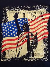 NWOT Mens Fruit of the Loom t-shirt USA 100% cotton XL dark blue short sleeve