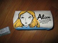 Disney Store Japan Alice In Wonderland Canvas Pouch Cosmetic Bag Purse