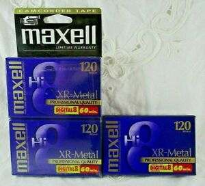 Maxell 120 Digital Professional XR Metal Sealed Vintage Hi 8 Video Tape 1