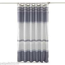 Essential Home QUINCY Fabric Silver Shower Curtain 72x72 In