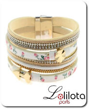 Luxus Leder Armband Lolilota Paris Ibiza Brasilien Magnetverschluß Wickelarmband