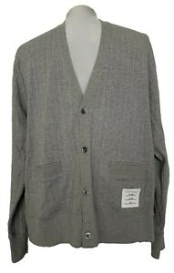 THOM-BROWNE-MEN-039-S-GRAY-COTTON-CARDIGAN-3-950