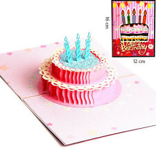 3D Pop Up Card Happy Birthday Cake Baby Gift Creative New Hot Greeting Cards