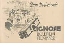 Y4944 Rollfilm und Filmpack LIGNOSE - Pubblicità d'epoca - 1927 Old advertising
