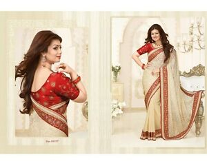 Designer Saree Indian Bollywood Pakistani Party wear Maroon Sari Embroidery Work