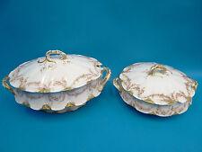 Antique Theodore Haviland Limoges France Porcelain China Serving Pots Dishes