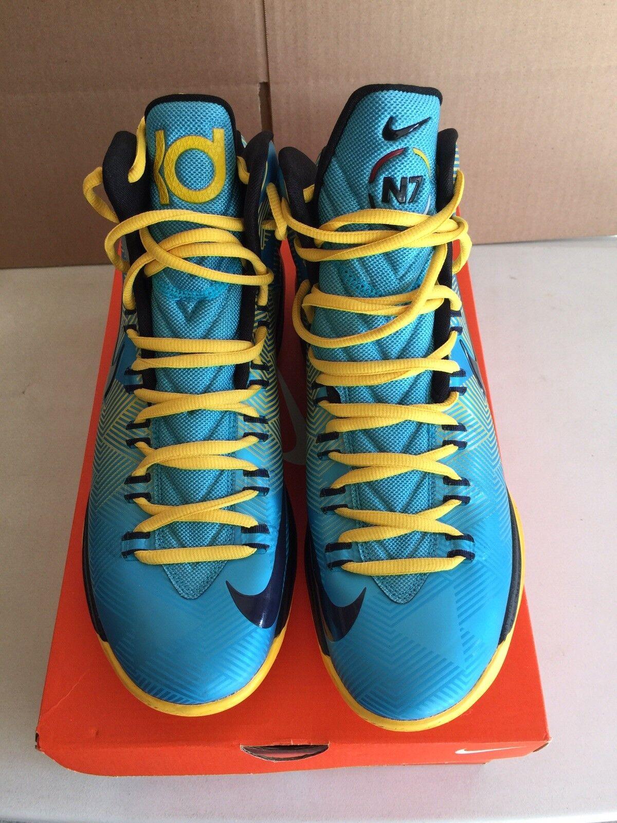 Nike Kevin Durant KD 5 V High N7 Edition shoes Mens Sz 10.5 bluee 599294-447