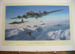 Schweinfurt-2nd-Mission-B-17-Flying-Fortress-Robert-Taylor-Signed-Aviation-Art