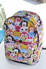 "disney tsum tsum mickey minnie canvas 15"" backpack packsack travelling bag bags"