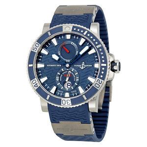 Ulysse-Nardin-Maxi-Marine-Diver-Titanium-Blue-Dial-Blue-Rubber-Mens-Watch