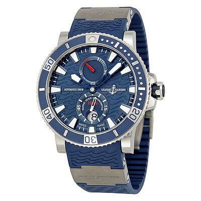 Ulysse Nardin Maxi Marine Diver Titanium Blue Dial Blue Rubber Mens Watch