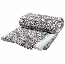 John Robshaw Ula Cotton Voile Quilt Queen Size Blue Red - MSRP $395