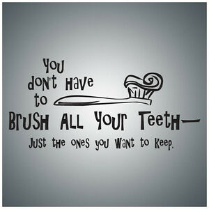 You-don-039-t-have-to-brush-all-your-WALL-QUOTE-DECAL-VINYL-LETTERING-SAYING