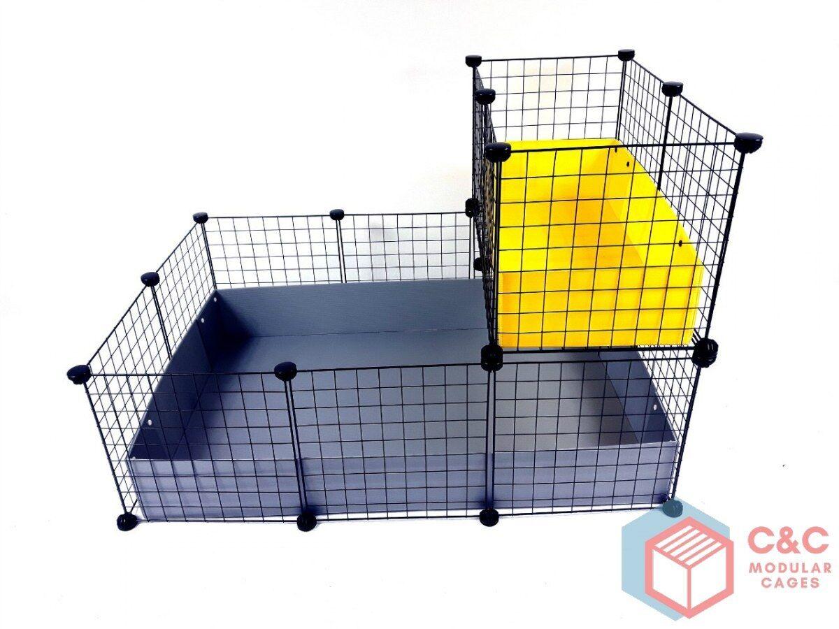 Due Tier CAVIA gabbia C&C 3x2 Loft Loft Loft + + 2 vaschette per poterlo incluso b5db17