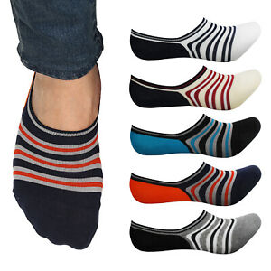 3 Pairs Mens Solid Colors Nonslip heels Loafer Liner No Show Cotton blend Socks