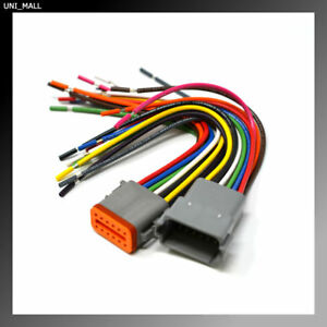 Deutsch Dt 12 Pin Trailer Connector Pigtail 16awg Nmma Abyc