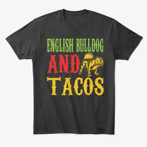 English-Bulldog-And-Tacos-Premium-Tee-T-Shirt