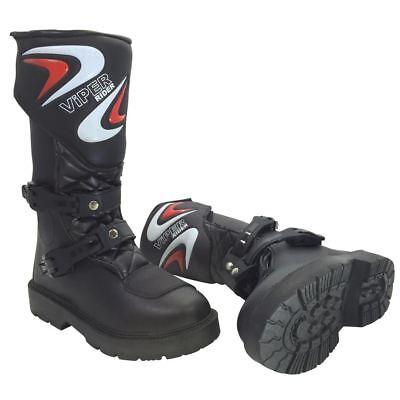 Viper K156 Motocross Enduro Off-Road Kids MX Boots Junior Black (All Sizes)
