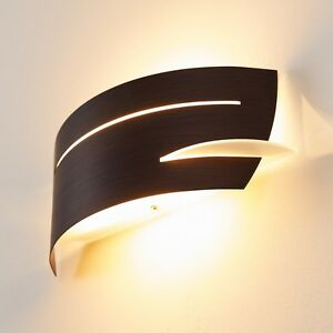 Applique metallo marron vetro bianco lampada da parete design ...