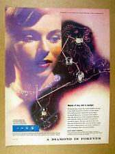 1957 Herbert Matter photo Leo the Lion constellation De Beers Diamonds print Ad