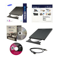Samsung Ultra Slim CD DVD Burner+FREE 1pk MDisc+USB Cable Portable Writer Drive