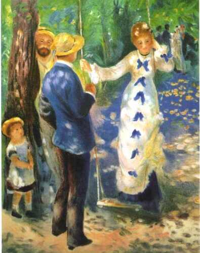 limited edition La Balancoire by Renoir unframed lithograph print w// COA