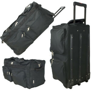 xxl reisetasche 128l jumbo trolley sporttasche 3 rollen trolly koffer tasche ebay. Black Bedroom Furniture Sets. Home Design Ideas