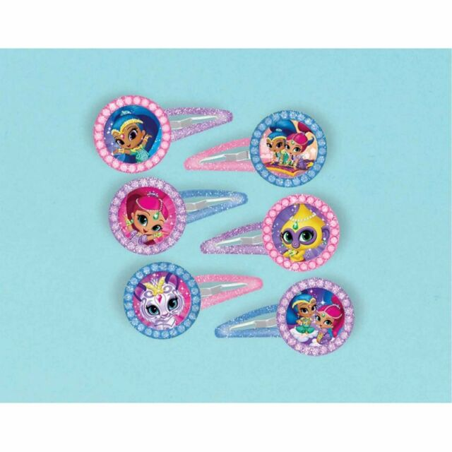 SHIMMER AND SHINE Hair Clips Pack of 12 Favours Party Bag Filler Birthday
