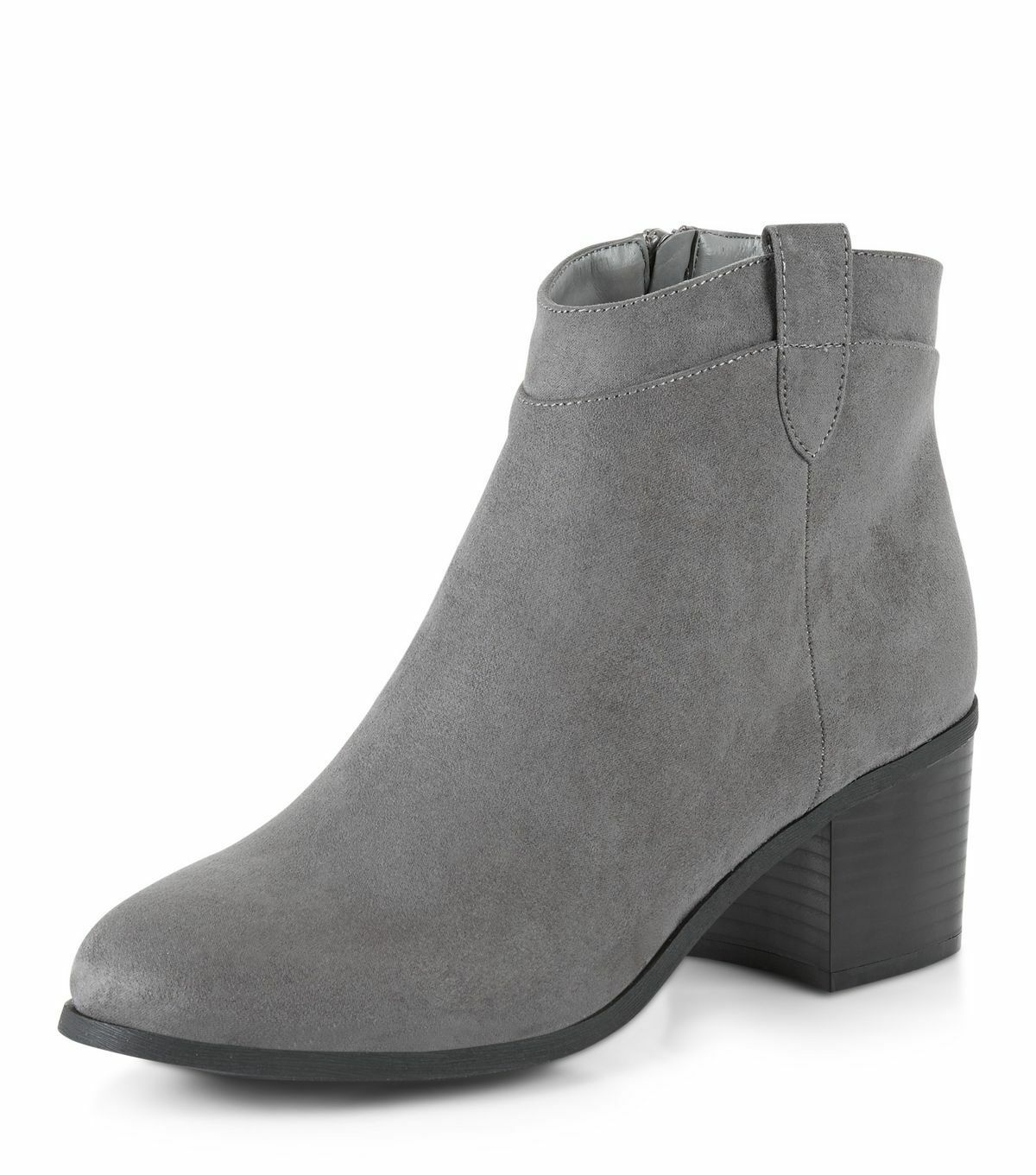 New Look Wide Fit Grau Suedette Western Ankle New Stiefel Größe 6 Brand New Ankle 9a03a4