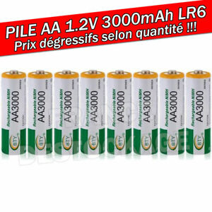 PILE-ACCU-BATTERIE-RECHARGEABLE-AA-LR06-3000mAh-1-2V-NI-MH-NIMH-LR6-R06-R6-2A
